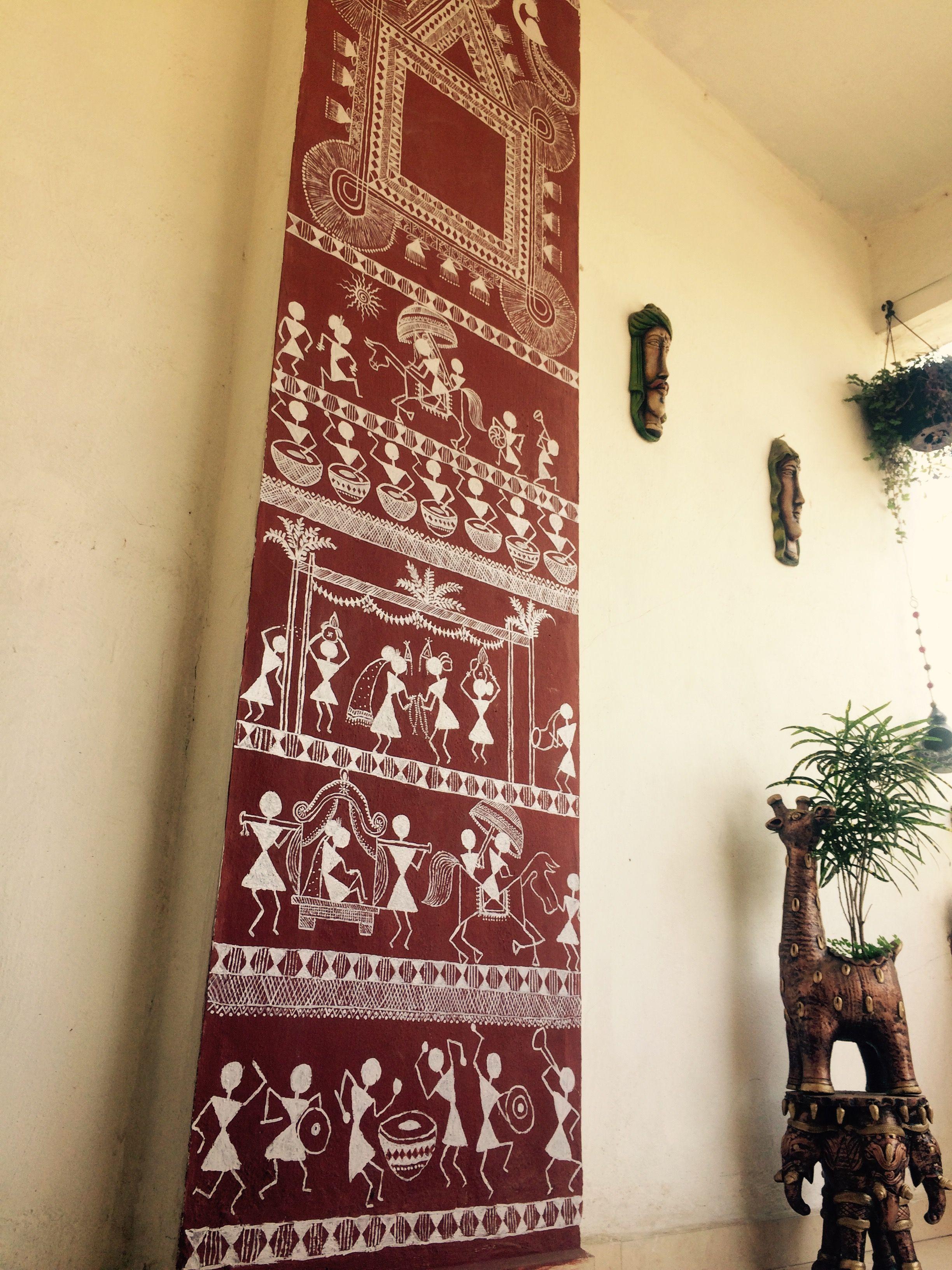 Pin By Chitra Venkatesh On Warli Painting Wall Painting Worli Painting Paint For Kitchen Walls