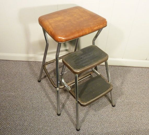Retro 50s Vintage Step Stool Kitchen Chair Cosco For The