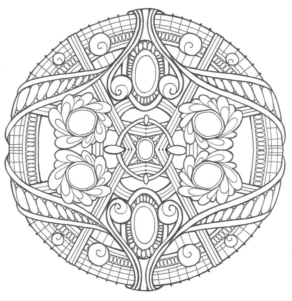 Opal Palace Mandala Coloring Page Mandala Coloring Pages