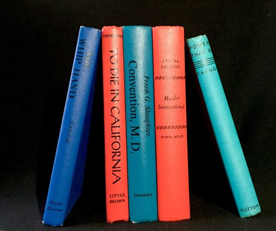 Set of Mid Century Decorative Books in Strong by TTLGFurnishings