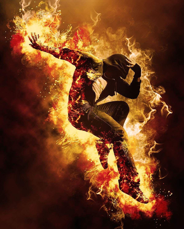 Gif Animated Fire Action ภาพ, ฮีโร่มาร์เวล