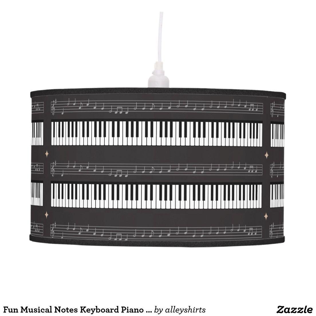 Fun Musical Notes Keyboard Piano Keys Black White