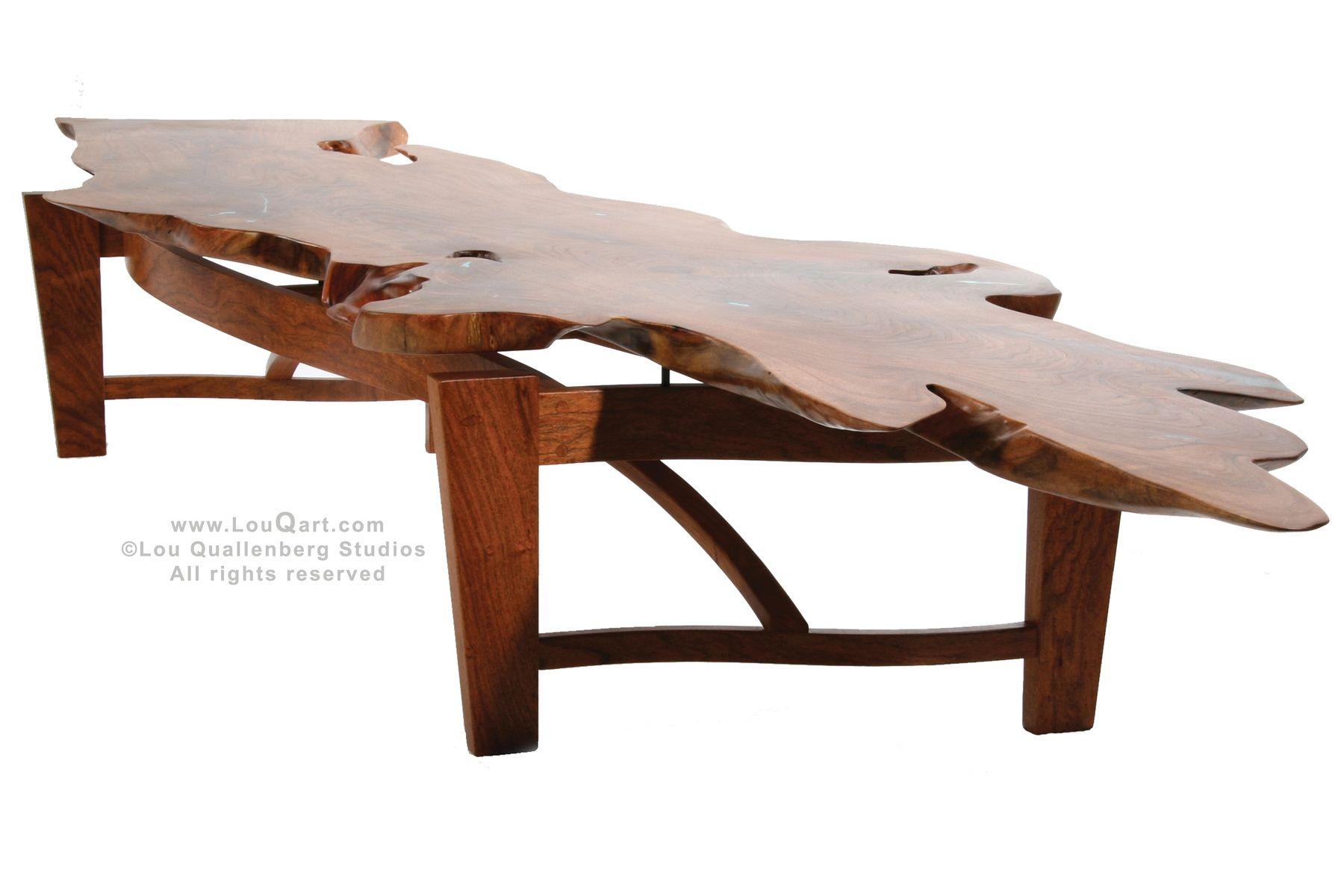 Natural Live Edge Mesquite Slab Coffee Table