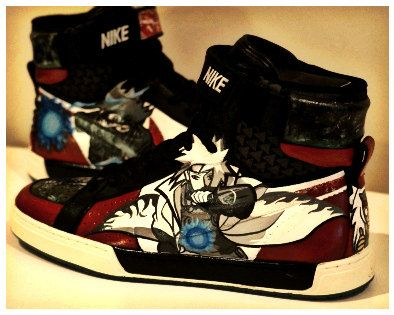 By Nike Art Shoes Naruto On Custom Painted Fan AyinxNarutonaruto 3jc54qSRLA