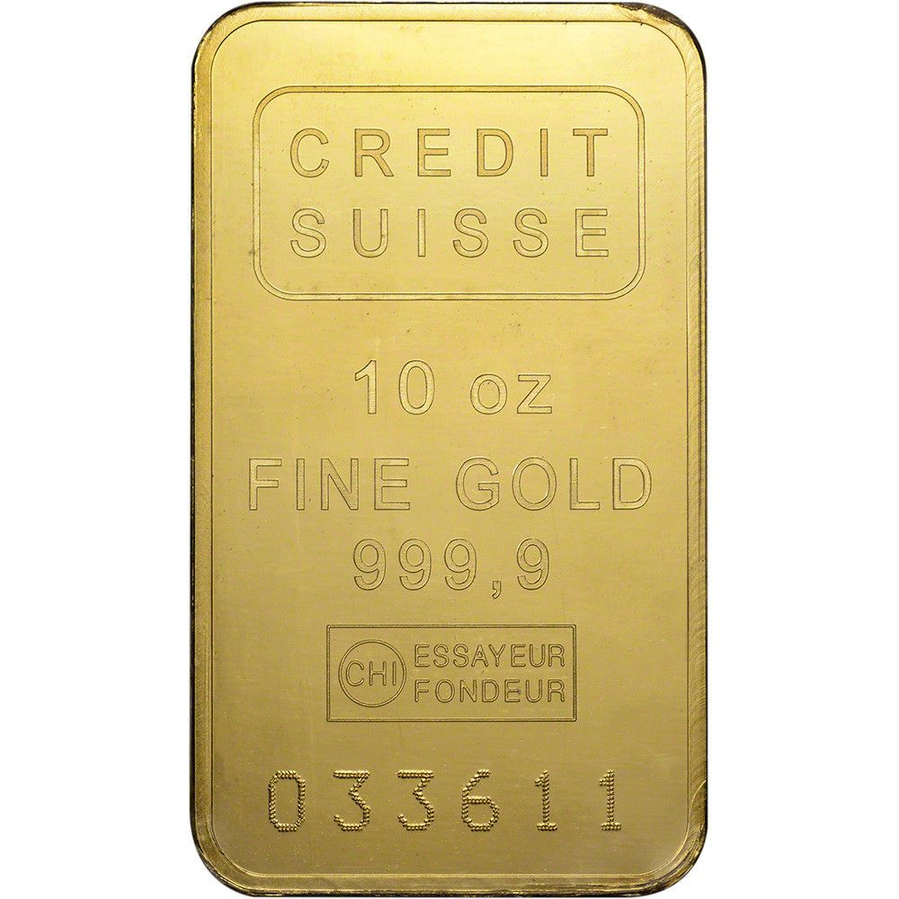 10 Oz Gold Bar Credit Suisse 999 9 Fine Sealed With Assay Credit Suisse Gold Bar Gold Bars For Sale