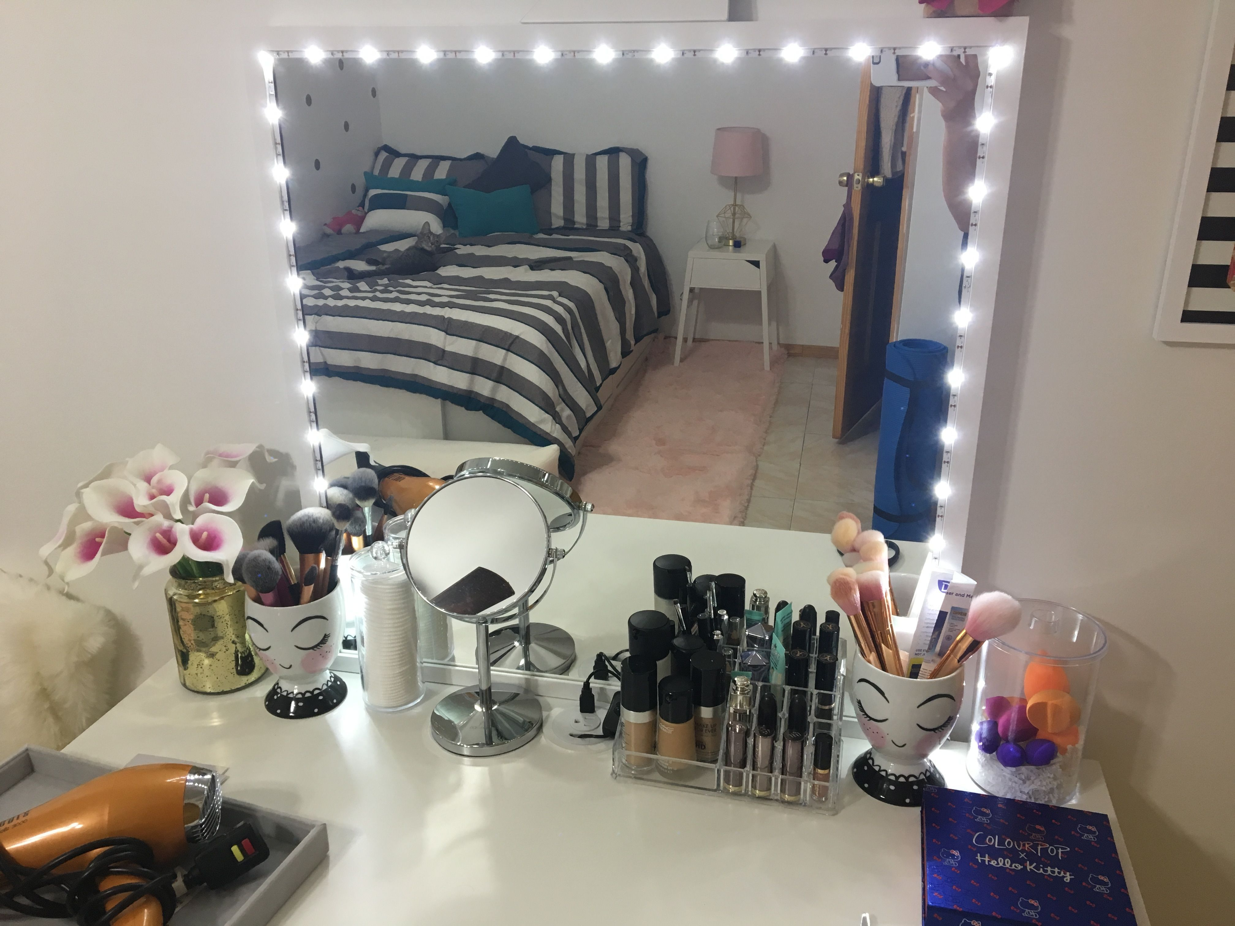 Diy Lighted Vanity Mirror Using Ikea Stave Mirror And