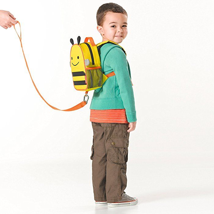 Zoo Collection Bee Skip Hop Toddler Leash and Harness Backpack