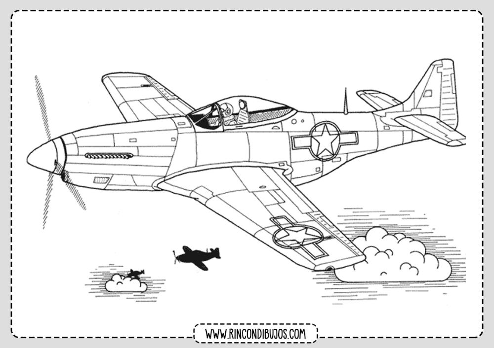 Dibujos De Aviones Para Colorear Rincon Dibujos Avion Dibujos Avioneta Dibujo Aviones