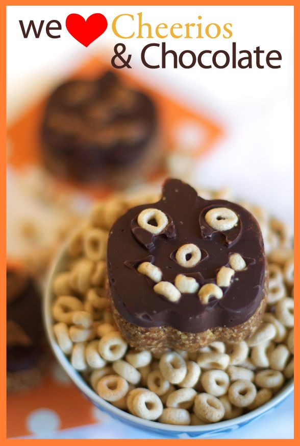 Cheerios and Chocolate Halloween Treats Recipe on FamilyFreshCooking.com Great for parties and #projectlunchbox