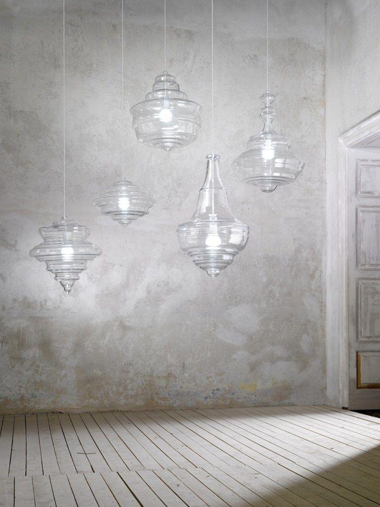 Blown Glass Pendant Lamp La Scala Lasvit Con Immagini Lampade Illuminazione Lampadari
