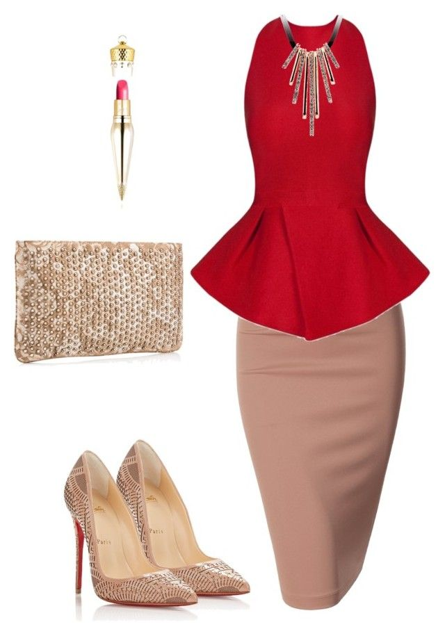"""Untitled #255"" by styledbyafrica on Polyvore featuring Doublju, Posh Girl and Christian Louboutin"