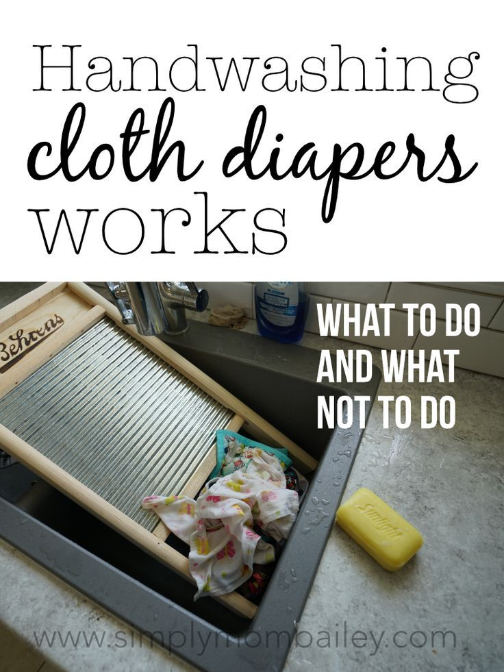 What Works When Handwashing Cloth Diapers (and What Doesn