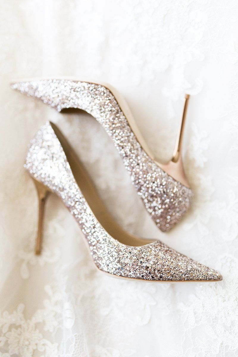 On Your Wedding Day Sparkly Silver Wedding Shoes Are Necessary Bri Cibene Photography Silver Wedding Shoes Sparkly Wedding Heels Wedding Shoes