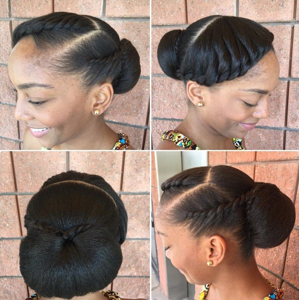 Black Low Bun Updo Natural Hair Bride Hair Styles Natural Hair Styles