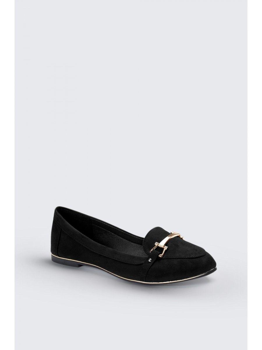 5cd89ab04cd Black gold line loafer