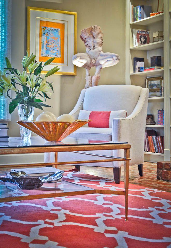 West Elm Rug   Design By Todd Lafayette LA Interior Design Kravet Chairs Interior  Design: Design By Todd Lafayette, LA