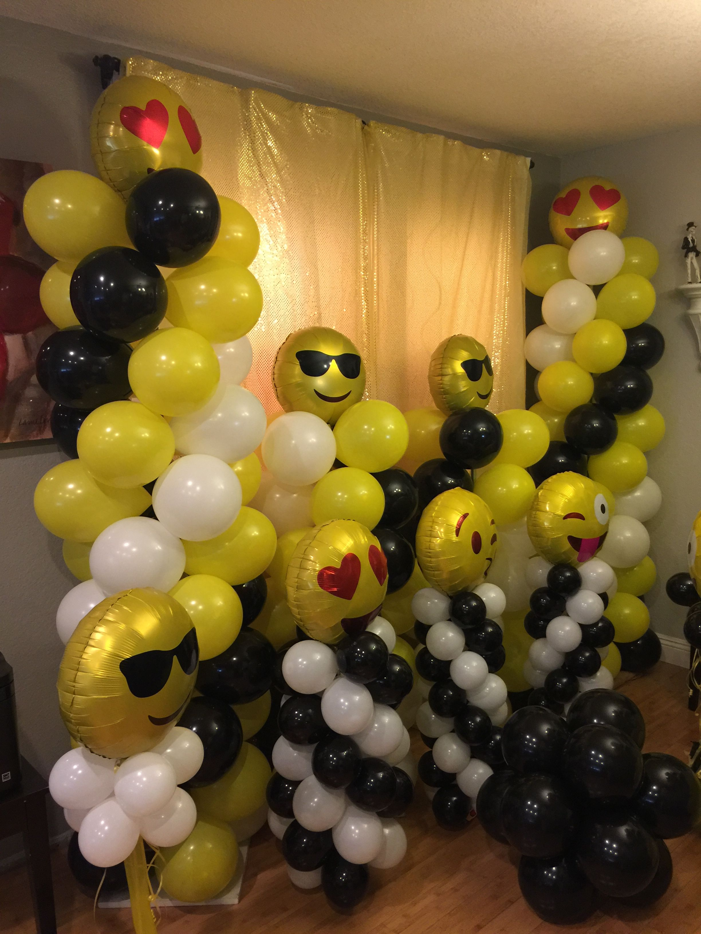 Emoji Photo Booth Backdrop Fiesta Birthday Themes