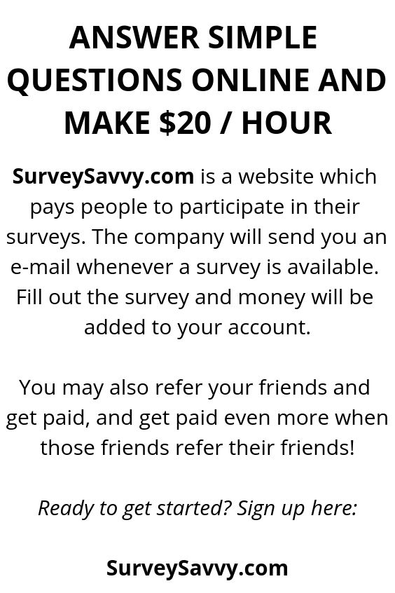 Answer Simple Questions Online And Make $20 / Hour