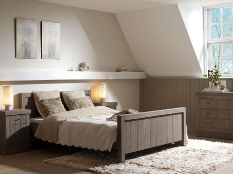 bruin-landelijk-ledikant | bedden en slaapkamers | slaapmaker, Deco ideeën