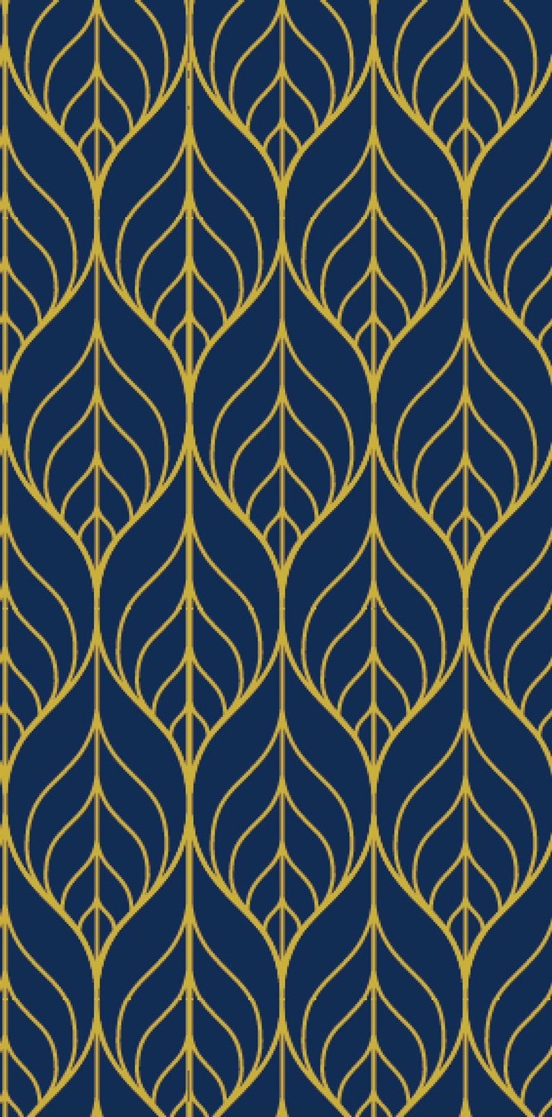 Removable Wallpaper Peel And Stick Wallpaper Leaf Wallpaper Etsy Navy Wallpaper Leaf Wallpaper Gold Wallpaper Background