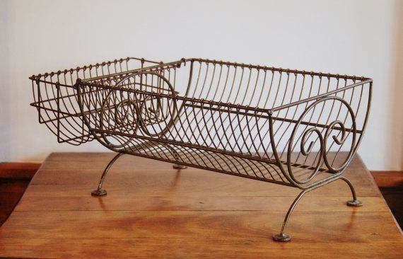 Farmhouse Wire Dish Rack Iron Scroll