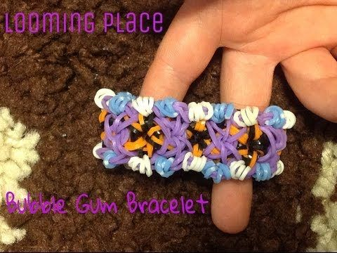 Rainbow Loom BUBBLE GUM Bracelet. Designed and loomed by Looming Place. Click photo for YouTube tutorial. 04/11/14.