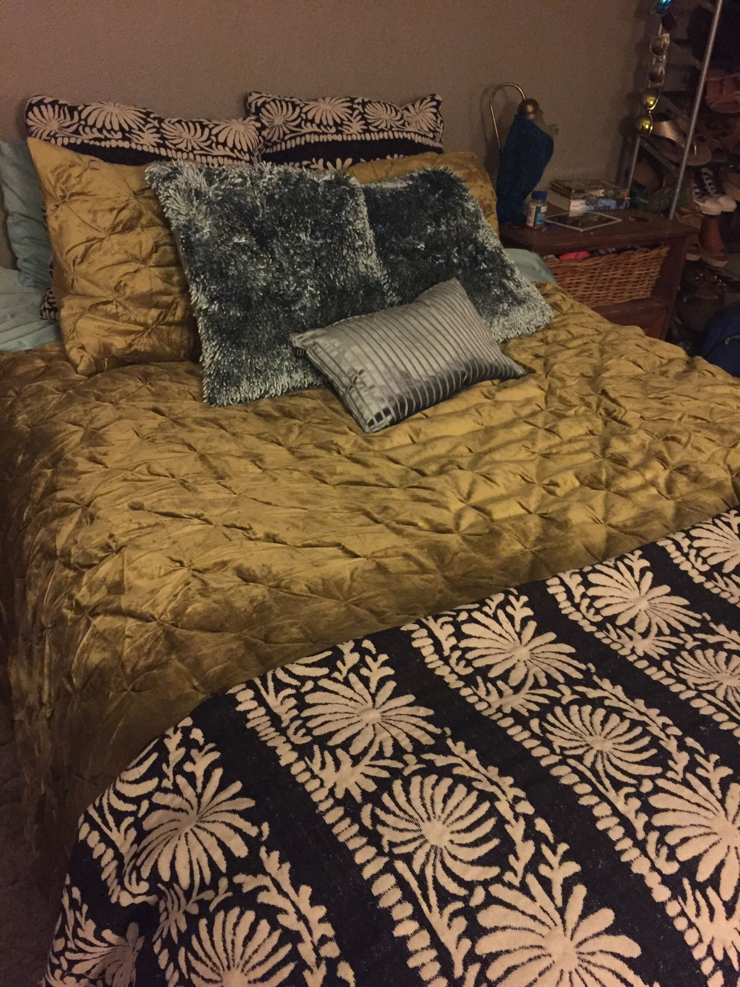 Velvet Bedding Quilt And Shams From World Market Throw And