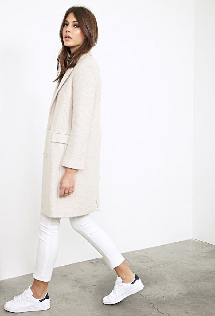 longline duster coat - sneakers