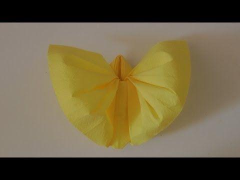 Pliage De Serviette En Forme De Papillon Facile Et Rapide Youtube Papierservietten Falten Servietten Falten Kindergeburtstag Servietten Falten