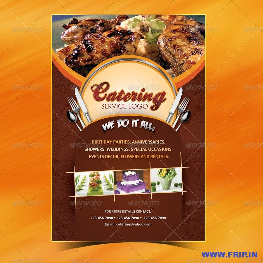 Catering Menu Template (Flyer) And Catering Menu Template Free