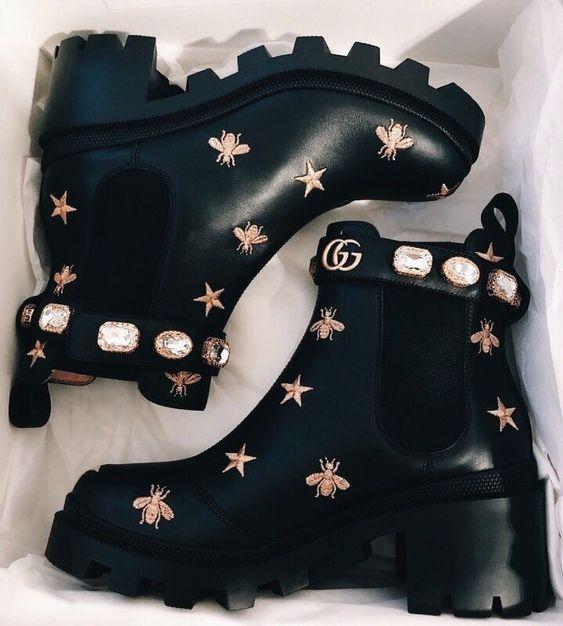 Gucci Bota Ankle Boots #shoecloset