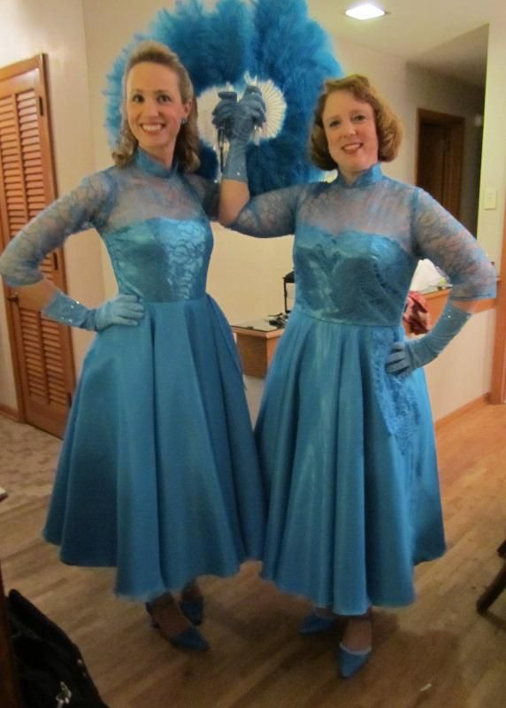 recreating the sisters dresses from white christmas - White Christmas Sisters