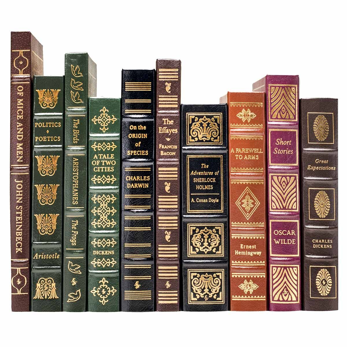 A Complete Set Of The 100 Greatest Books Ever Written Series From Easton Press Each Volume Is Bound In Leather Wi Leather Books Leather Bound Books Book Spine
