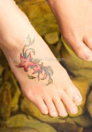 shell tattoo starfish on feet art pinterest. Black Bedroom Furniture Sets. Home Design Ideas