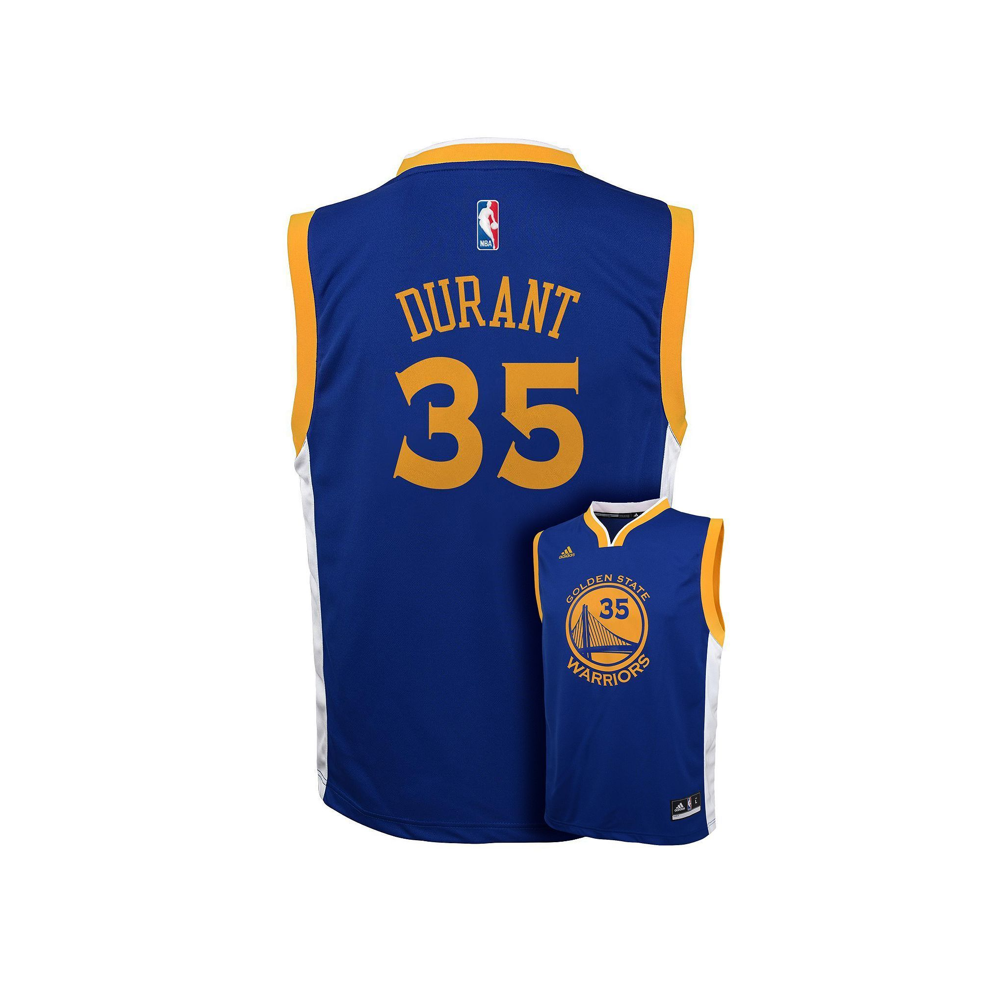 huge selection of 8ff5e fddfe Boys 8-20 adidas Golden State Warriors Kevin Durant NBA ...
