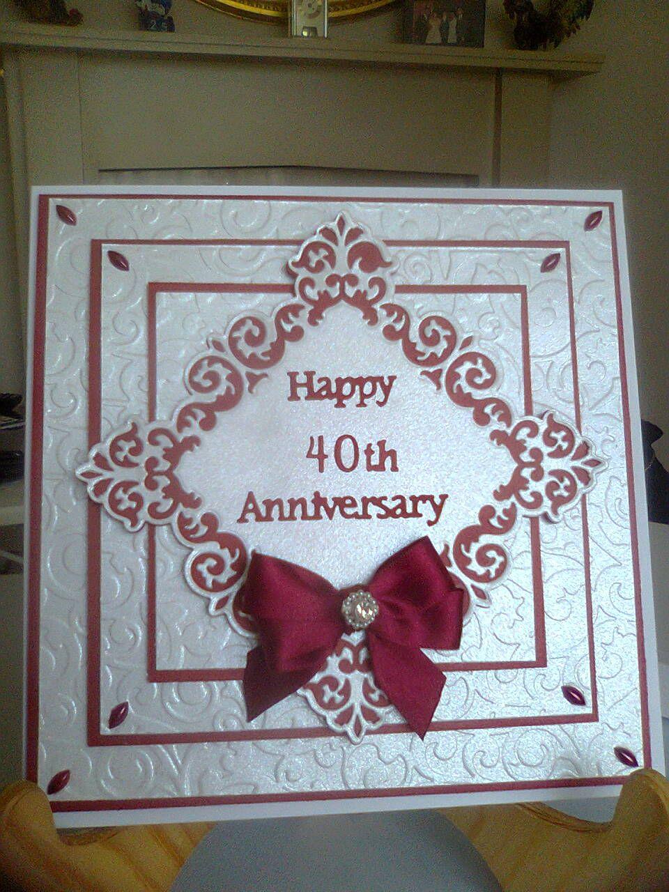 ruby wedding card  anniversary cards handmade wedding