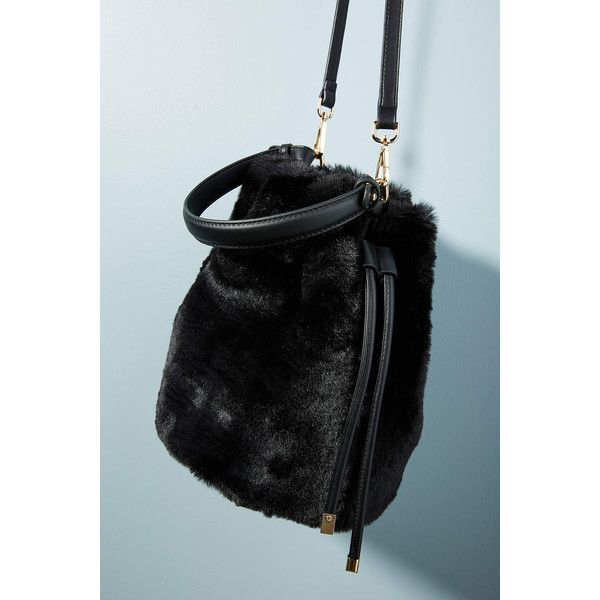 Anthropologie Faux Fur Crossbody Bucket Bag ( 78) ❤ liked on Polyvore  featuring bags 38b86a9dbb491