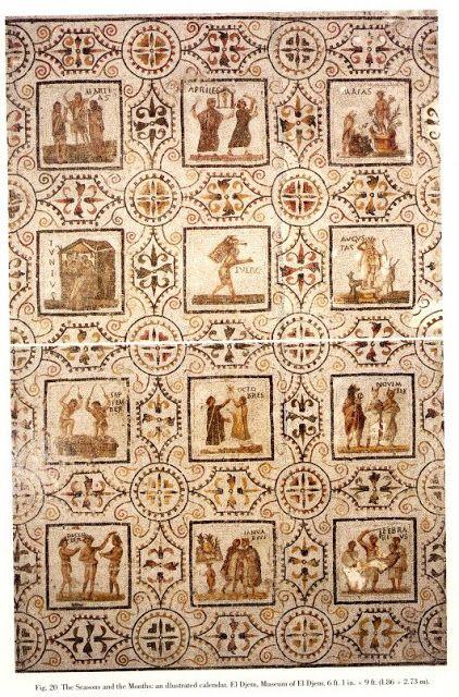 Il Calendario Romano.Traditio Romana Il Calendario Romano Mozaika Uzory Nel