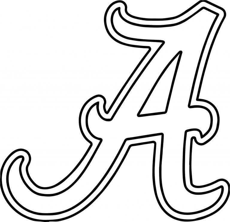 Best Printable Alabama Logo Coloring Pages 999 Amazing Coloring Pages Alabamalogoblackandwhit Alabama Quilt Football Coloring Pages Coloring Pages