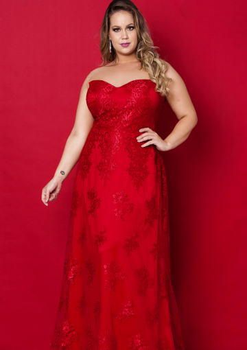 Sweetheart neckline prom dresses plus size