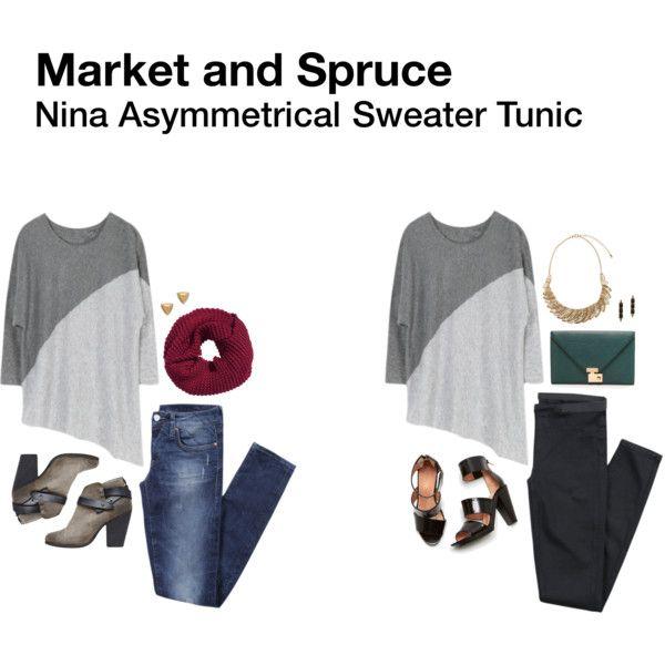Market and Spruce Nina Asymmetrical Sweater Tunic. | Stitch Fix ...