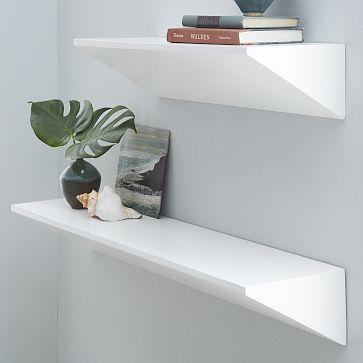 Floating Wedge Shelf White White Floating Shelves Wooden Floating Shelves Reclaimed Wood Floating Shelves