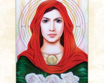 Mary Magdalen Spiritual Art Mary Magdalene of the Rose