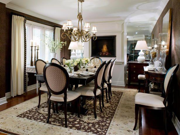 Divine Intervention Elegant Dining Room Fireplace Design