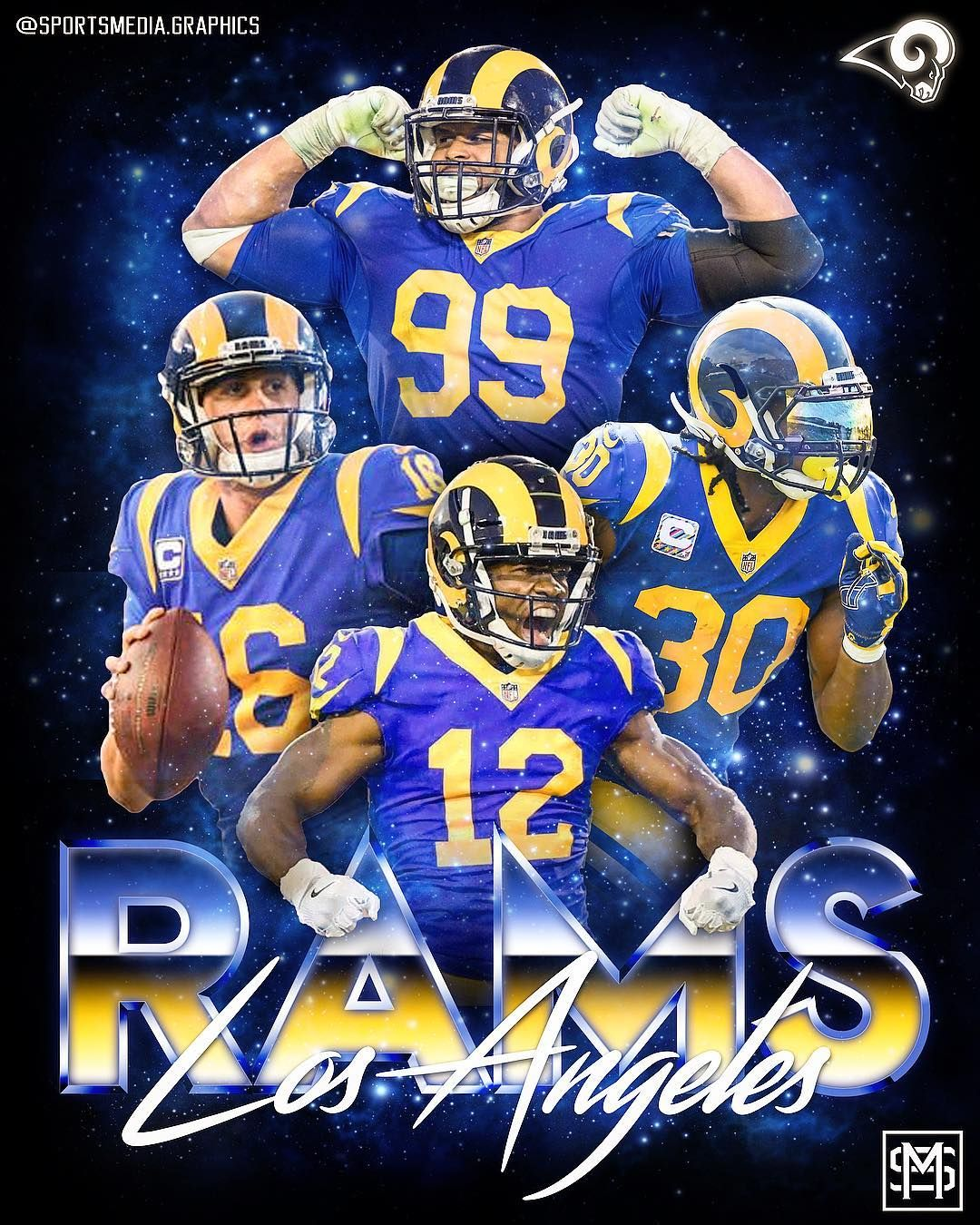 La Rams Design Who You Got Rams Or Cowboys Losangeles Rams Toddgurley Aarondonald Brandincooks Jaredg La Rams Football Memes Nfl Rams Football