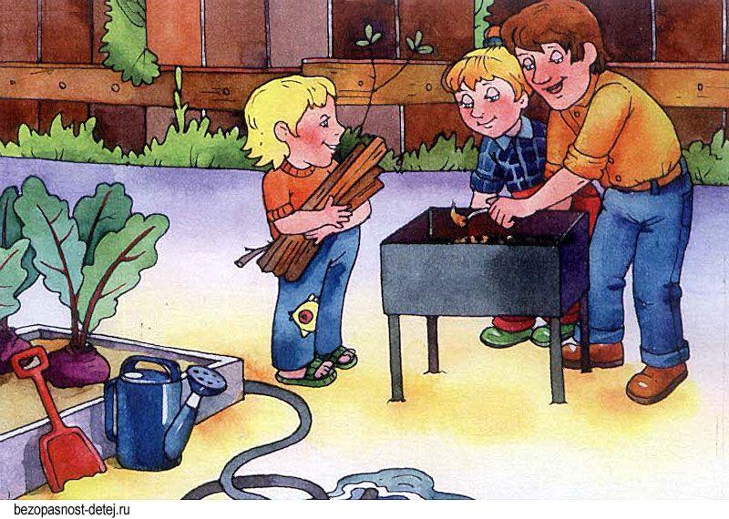 Опасные ситуации для дошкольников в картинках