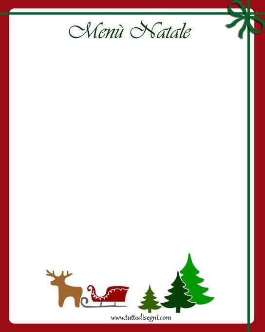 Menu Di Natale Da Stampare E Compilare.Risultati Immagini Per Menu Di Natale Da Stampare E
