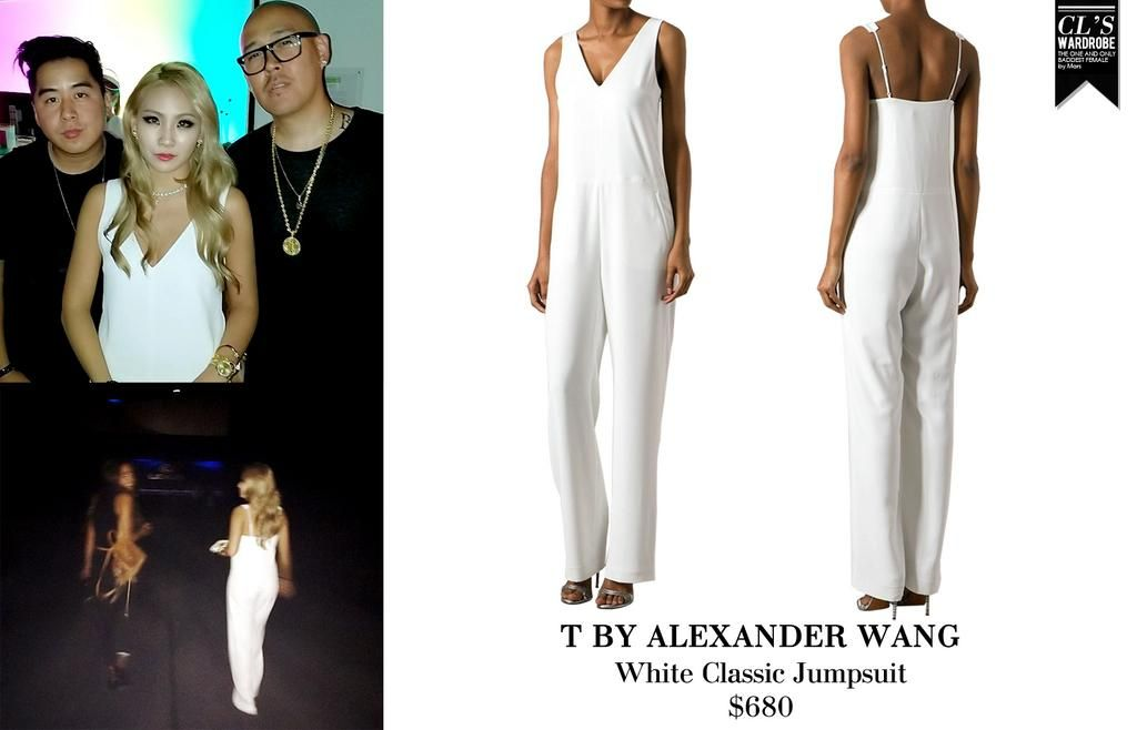 CL | T by ALEXANDER WANG White Classic Jumpsuit