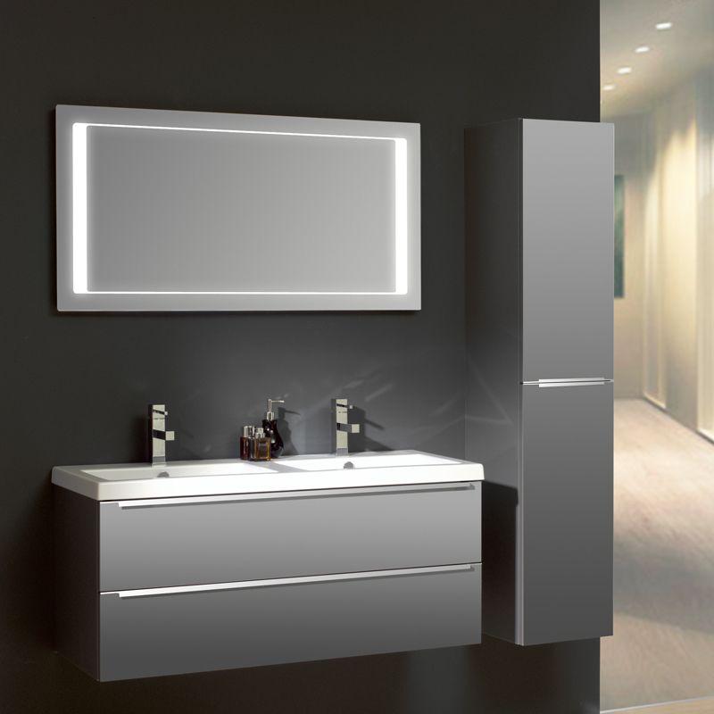 Badezimmermöbel weiß grau  THEBALUX Badmöbel Set »MAGIC« Grau Acryl Hochglanz Jetzt bestellen ...