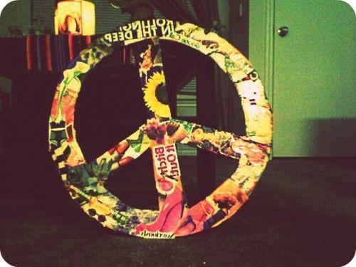 DIY Editorial Peace Sign